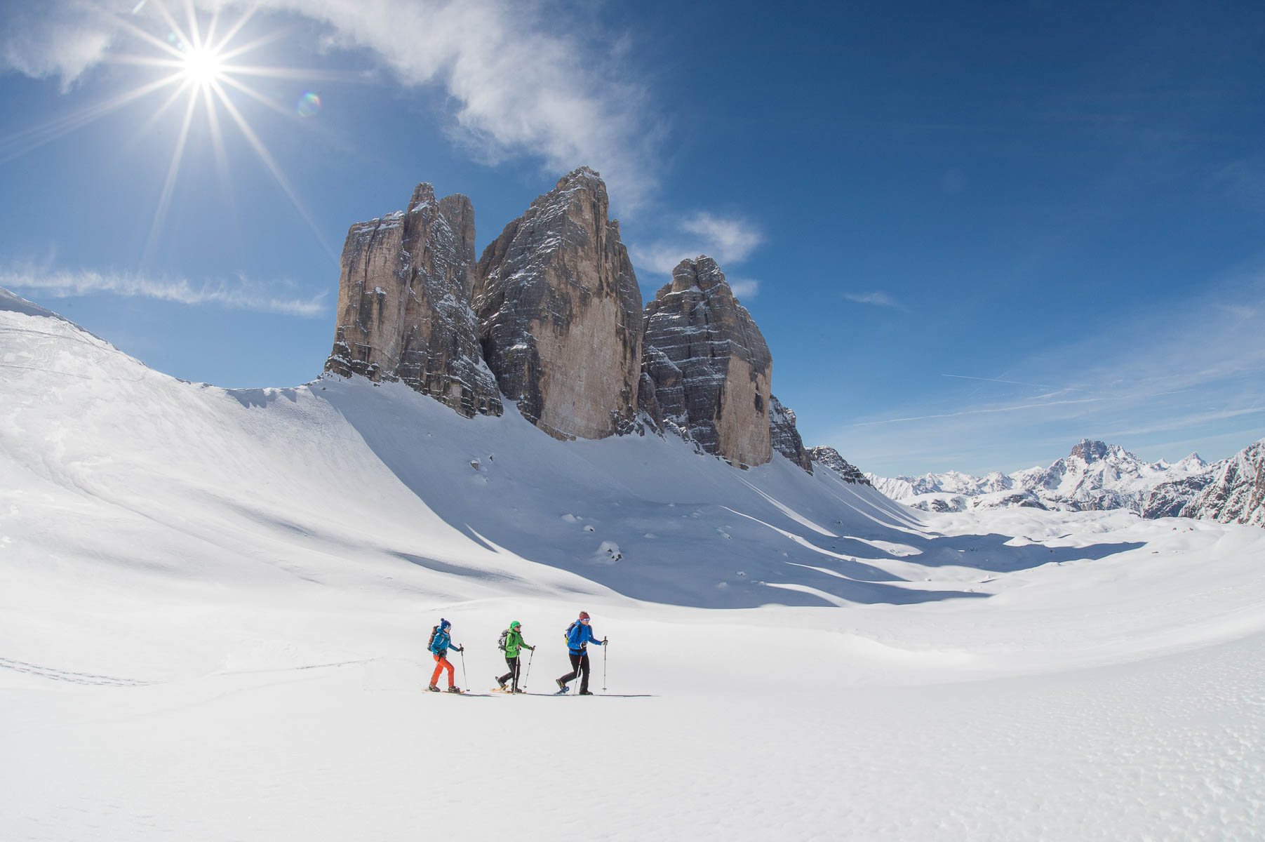 Ski tour & snowshoe hiking Dolomites